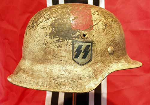 German Waffen SS Medical Helmet