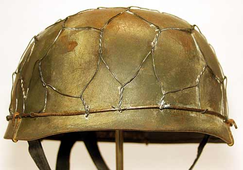 M38 Normandy Helmet chicken Wire